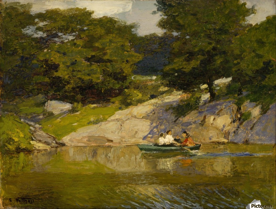 Boating in Central Park  Print