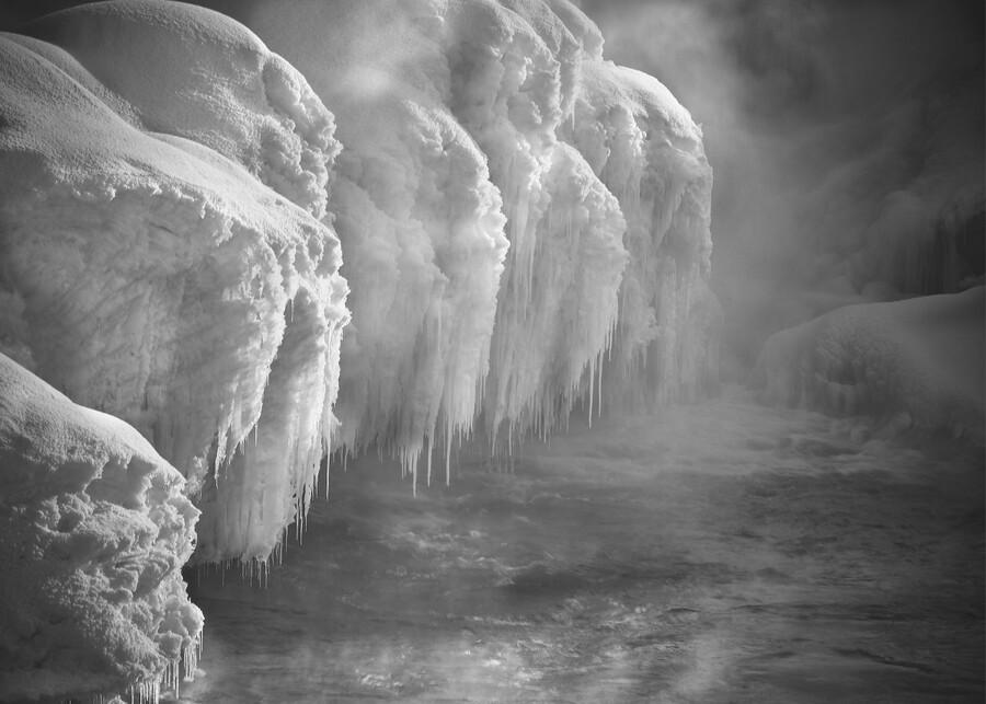 Winter River Smoke  Print