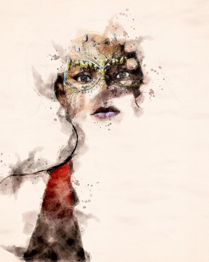 Belle dame du masque  Print
