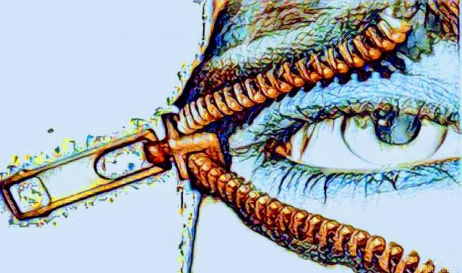 zipper eye  Print