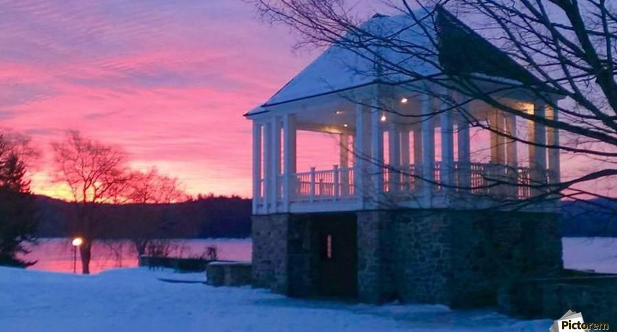 winter sunrise over the park  Print
