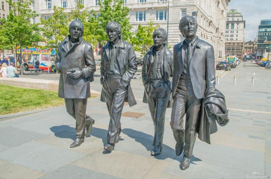The Beatles Statue  Print