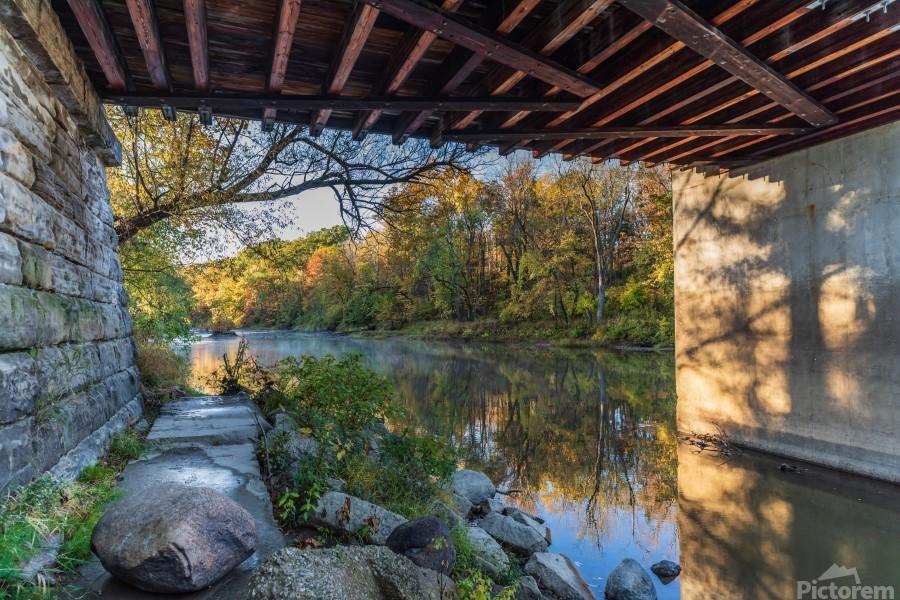 Grand River at Mechanicsville Ohio  Print