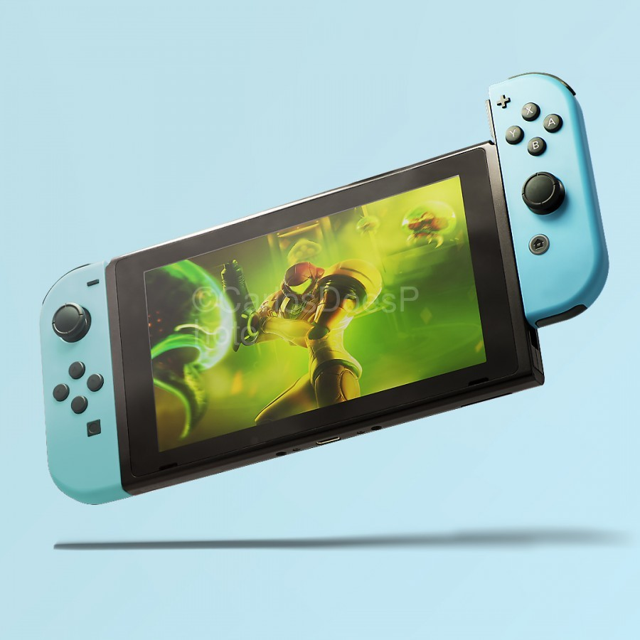 Nintendo Switch Blue  Print