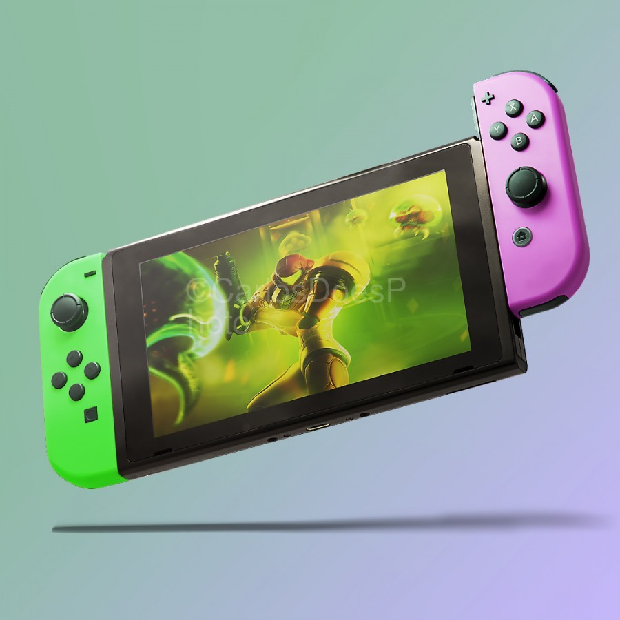 Nintendo Switch Green Pink  Print