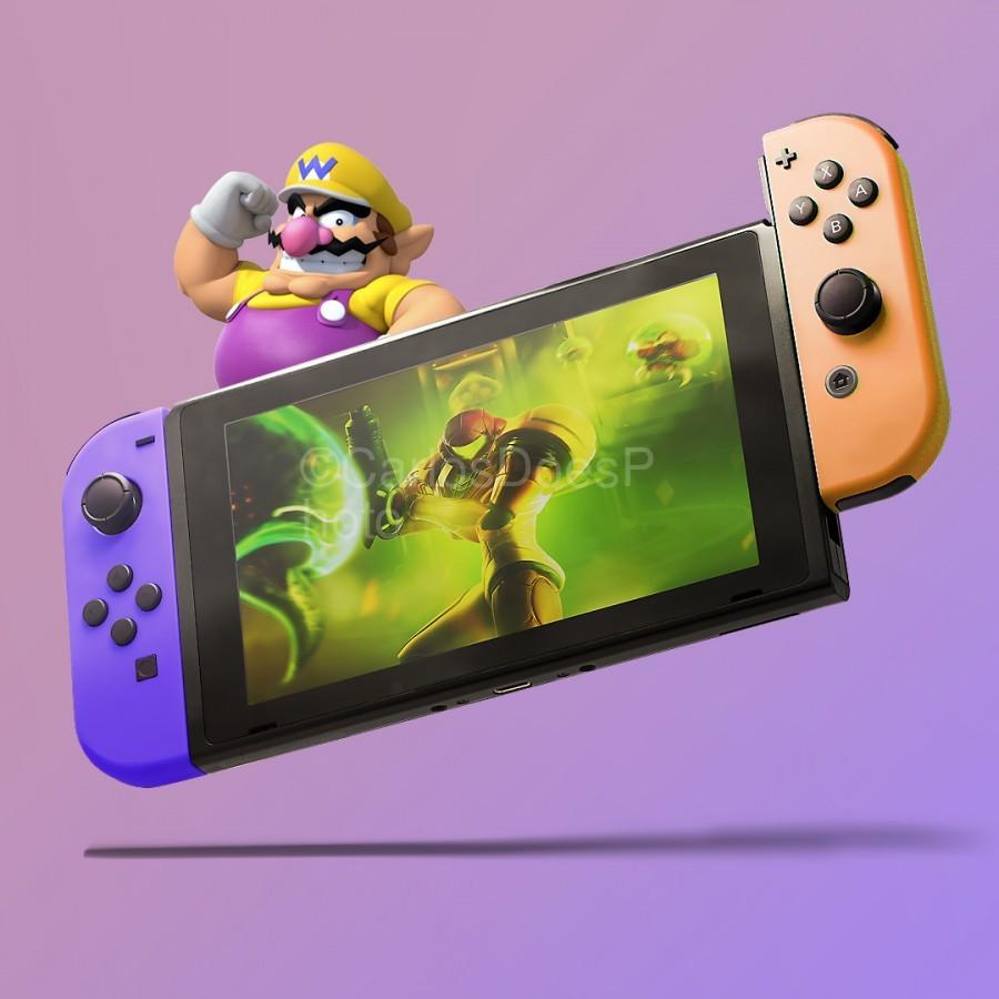 Nintendo Switch Wario  Print