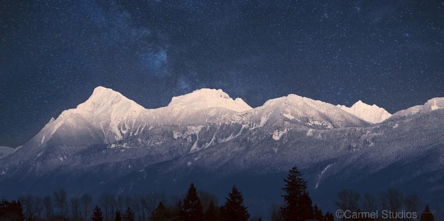 Mt. Cheam Range In Snow  Print