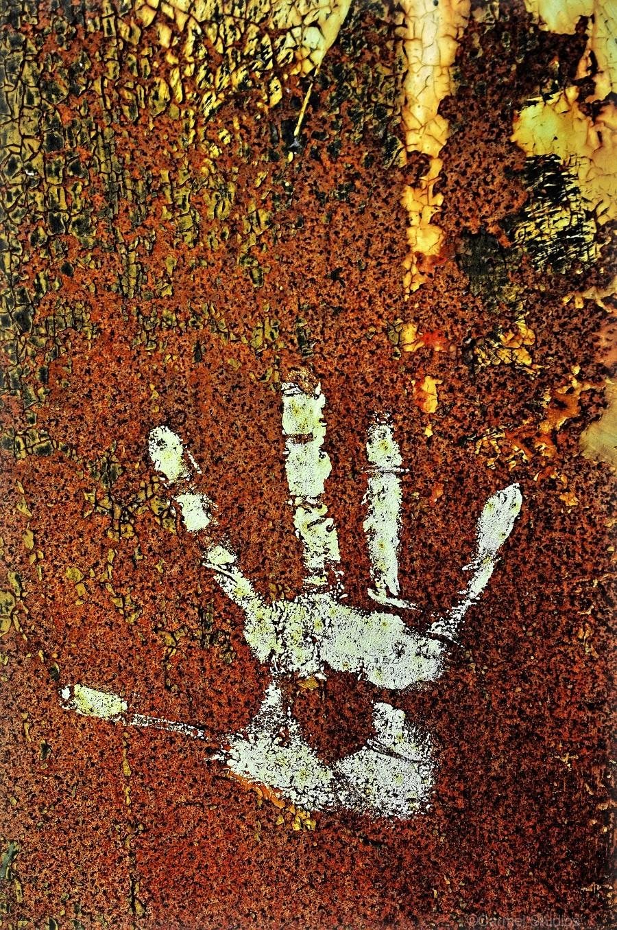 Rusty Door Hand Print  Print