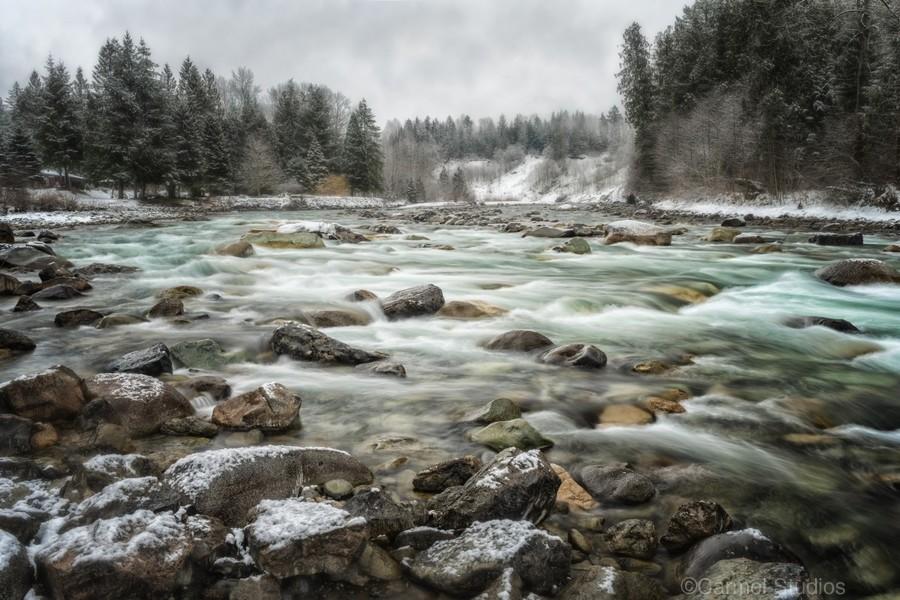 River in Winter  Print
