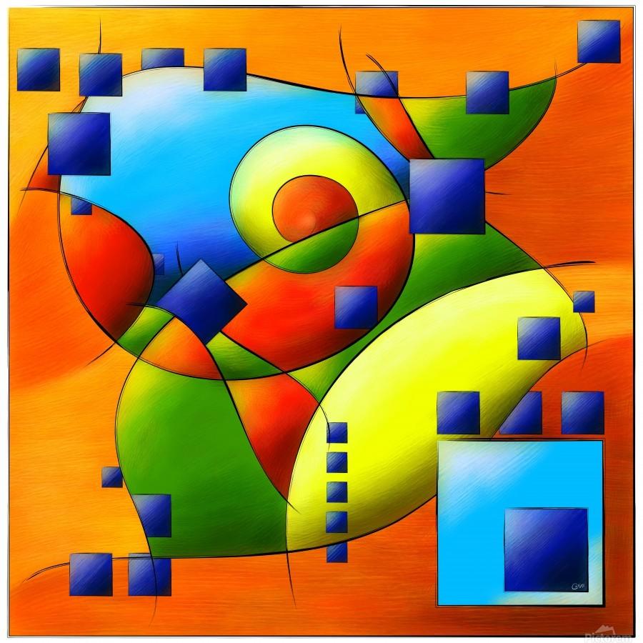 Fantisimella - colourful birdy abstract  Print