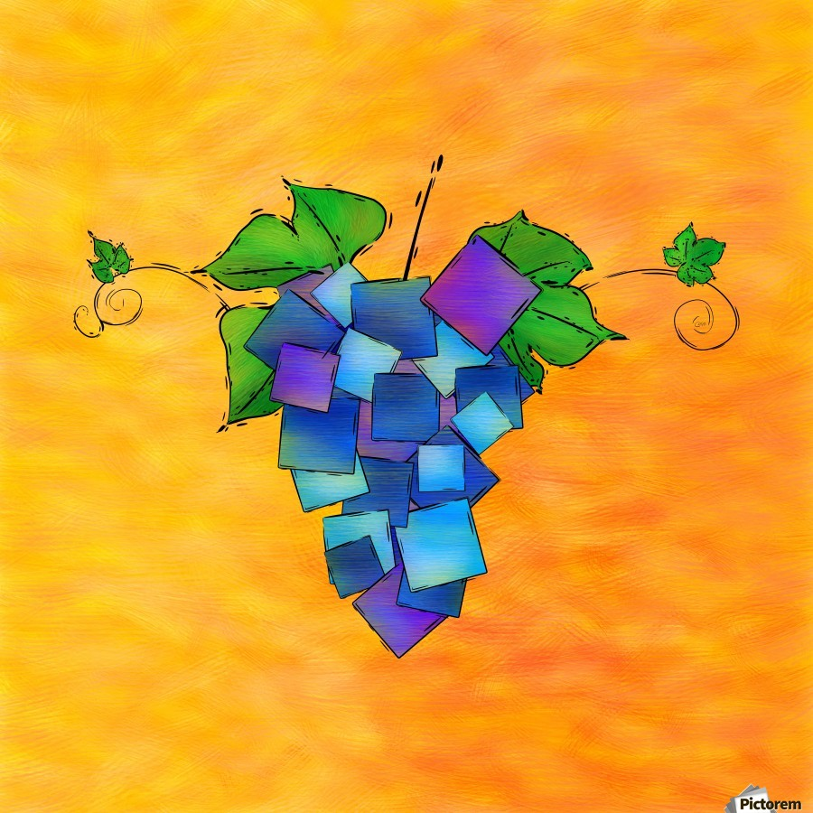 Jamurissa - square grapes  Print