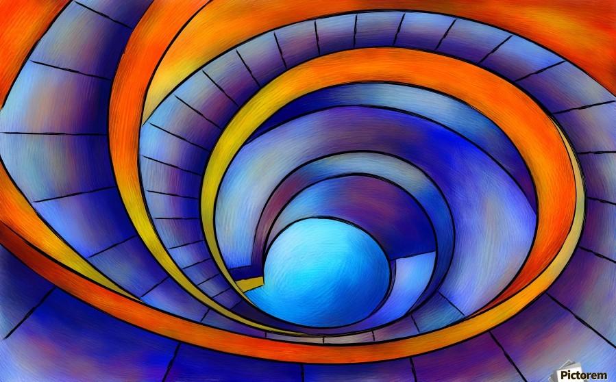 Melanissia - abstract moonrise  Print