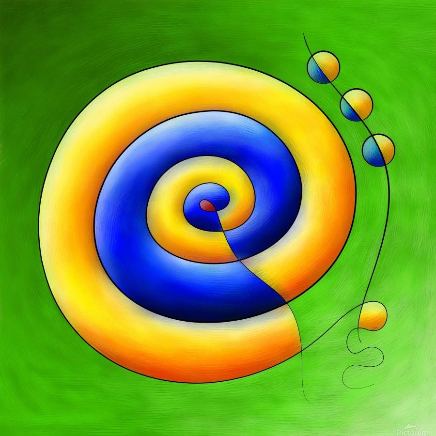 Neosmirana - running space snail  Print