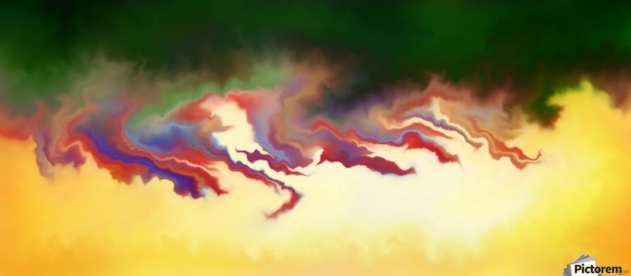 Obadiani V1 - digital abstract  Print