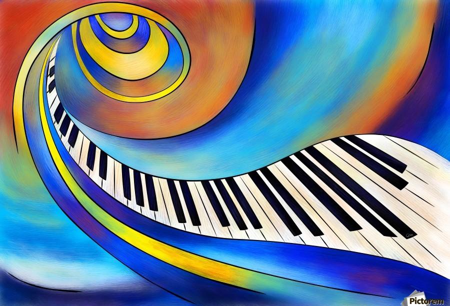 Redemessia - spiral piano  Print