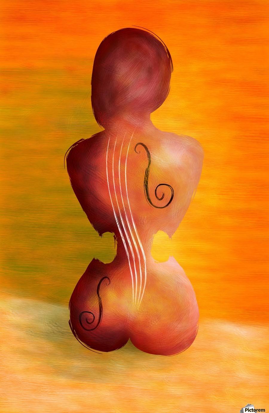 Vioseussa V1 - violin lady  Print