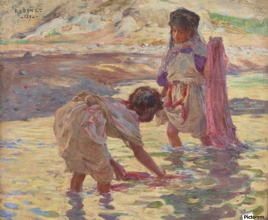 Children playing in the water  Print