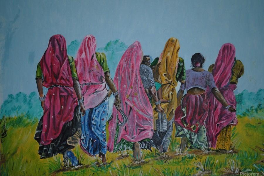 Village Women_DKS  Print
