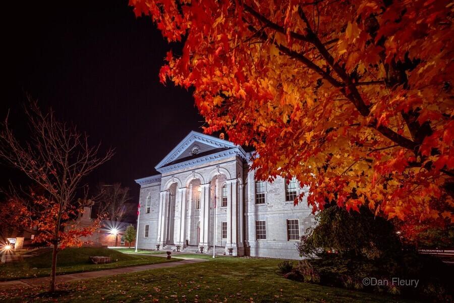 Courthouse Autumn Night  Print