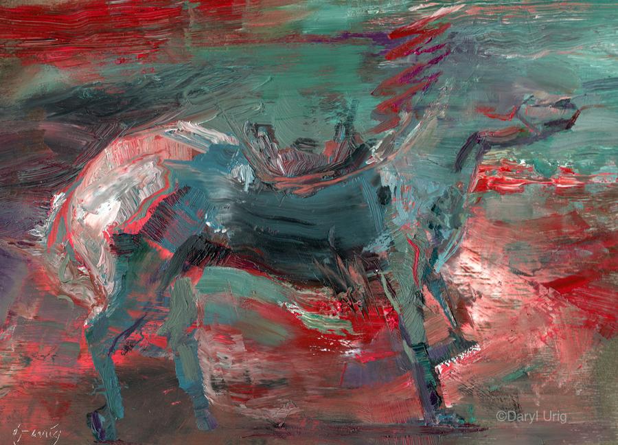 Ghost Rider - Wine  Print