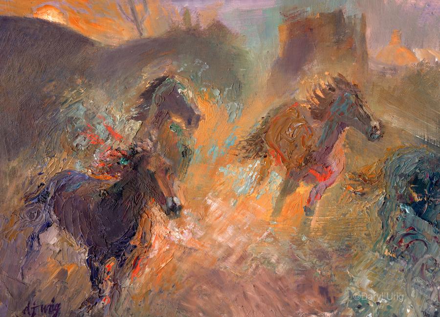 Wild Horses Sun Dust  Print