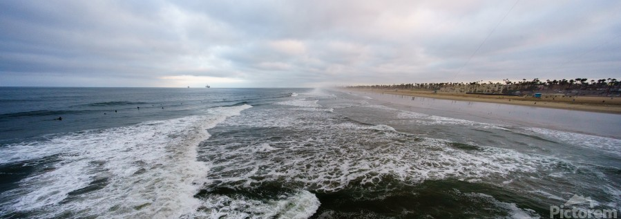 Huntington Beach Panorama  Print