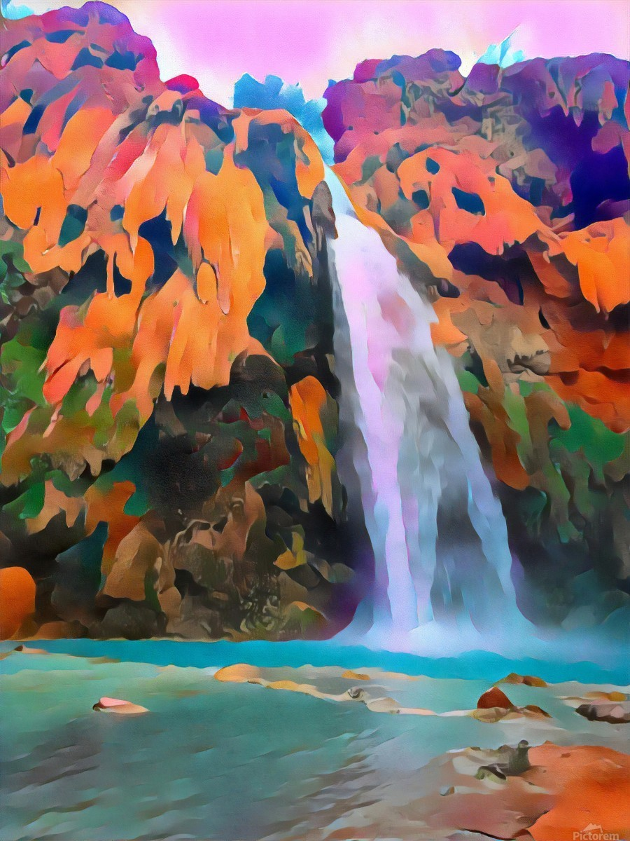 Havasupai Waterfall  Print