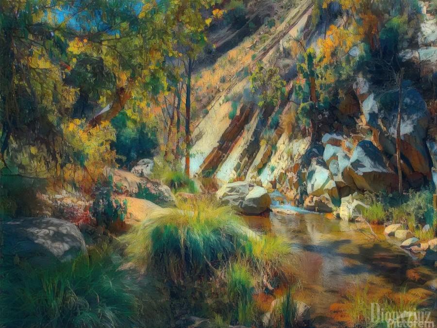 Ojai canyons  Print