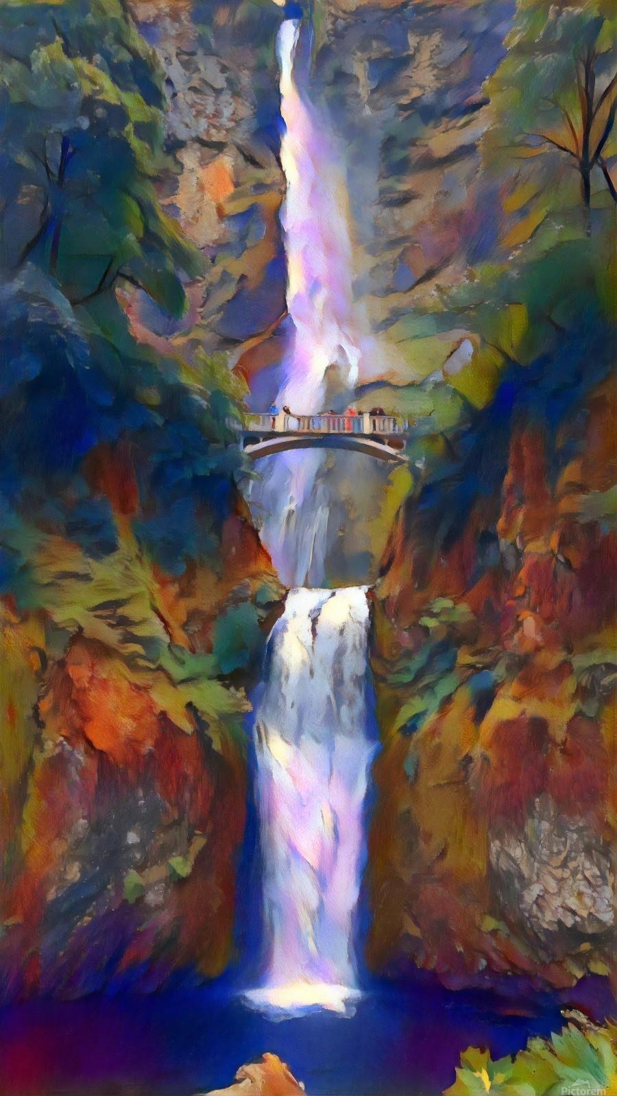 Multnomah falls  Print
