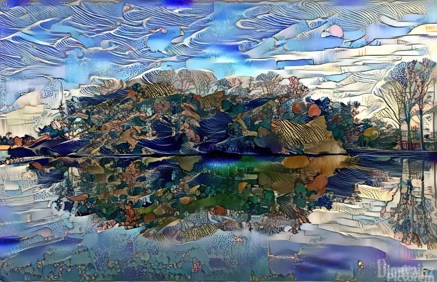 Japanese lake   Print