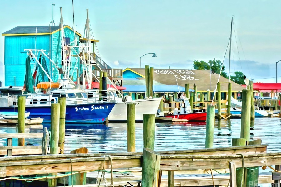Fishy Fish  Cafe Harbor View  Print