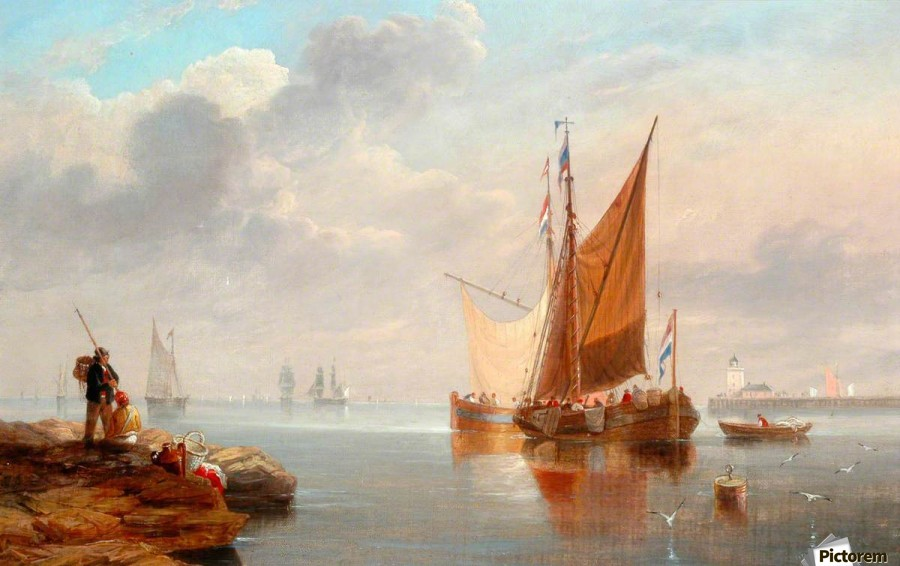 Dutch Fishing Boats  Print