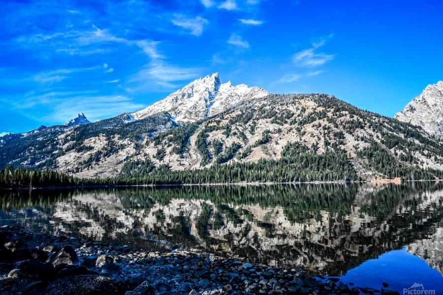 Teton reflection in Jenny lake  Print
