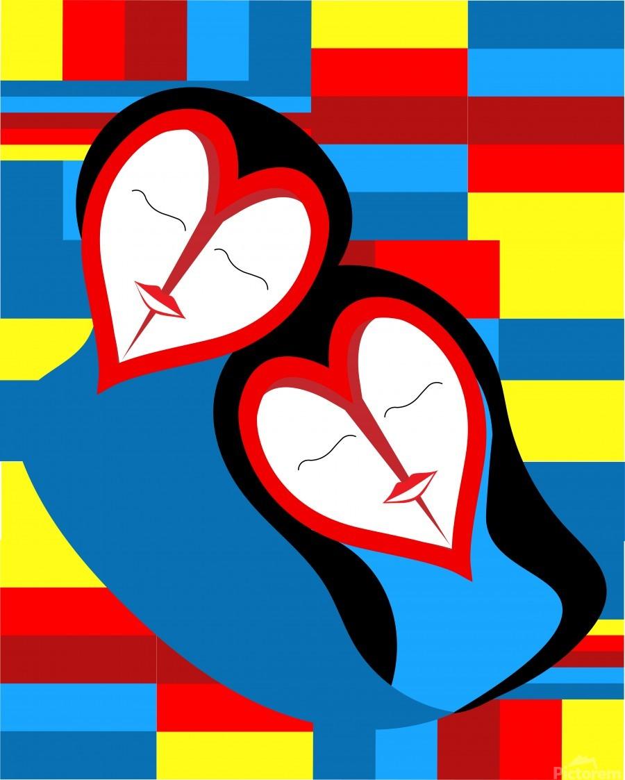 Hearts in Love  Print