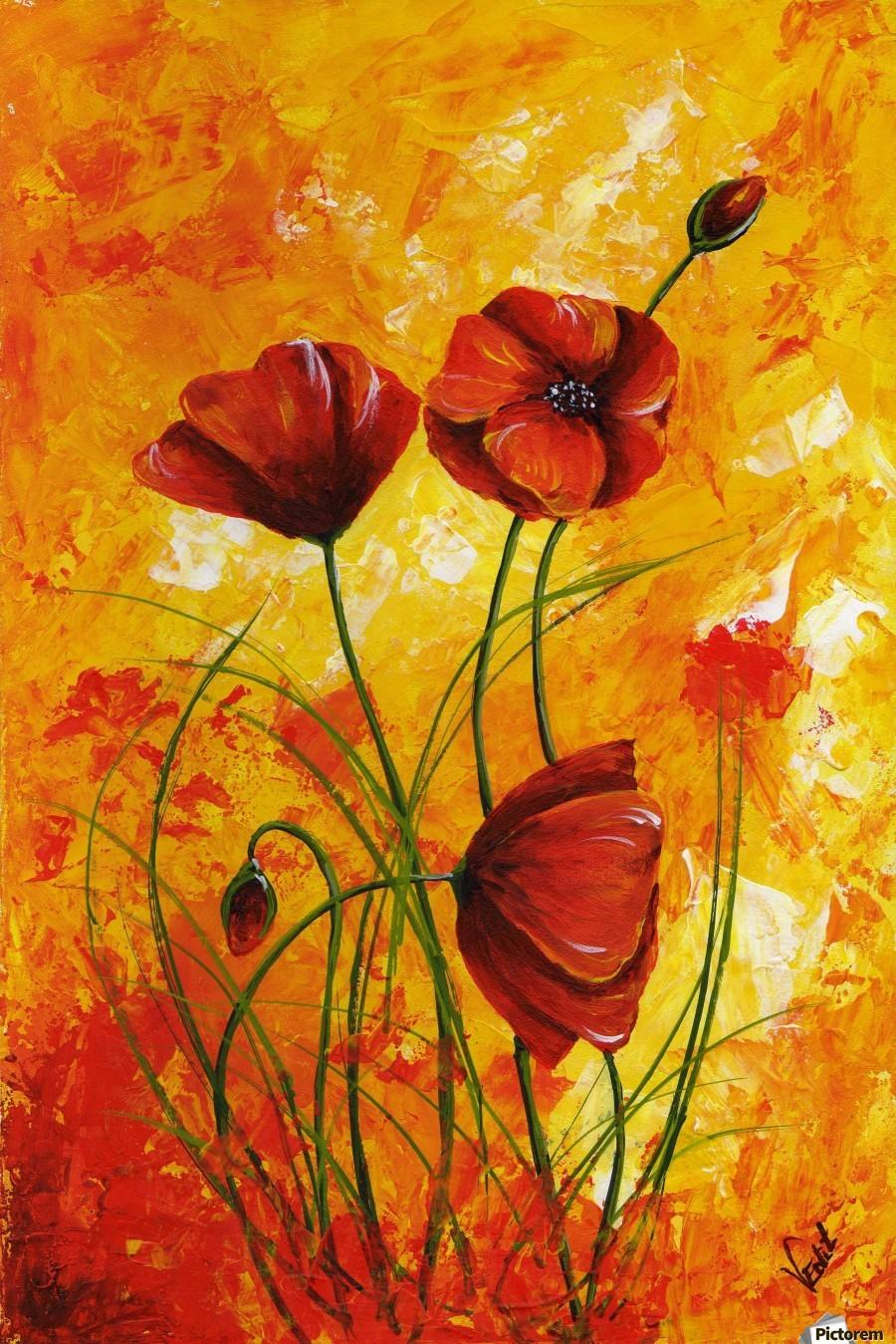 Edit Voros Red Poppies 006  Print