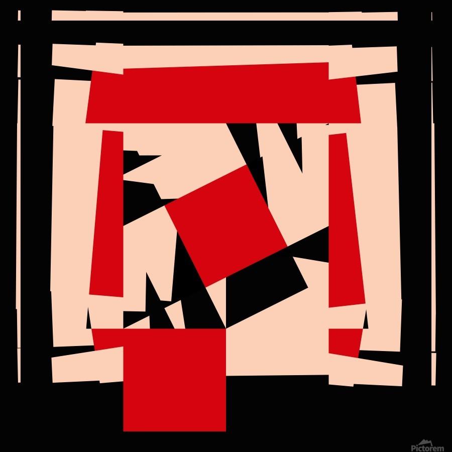 Juggling_Piet_Mondrian  Print