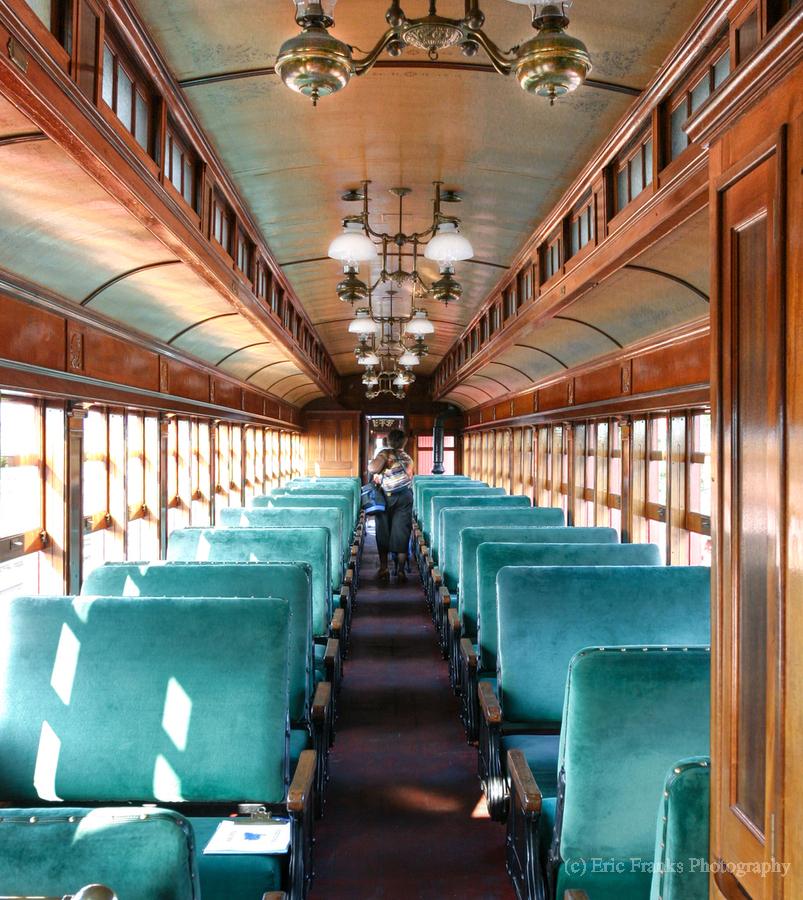 Interior of Antique Railcar.  Print