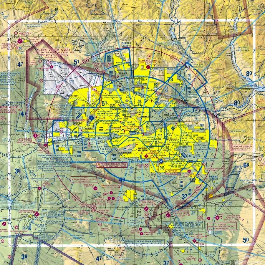 Phoenix AZ Aeronautical Wall Art  Print