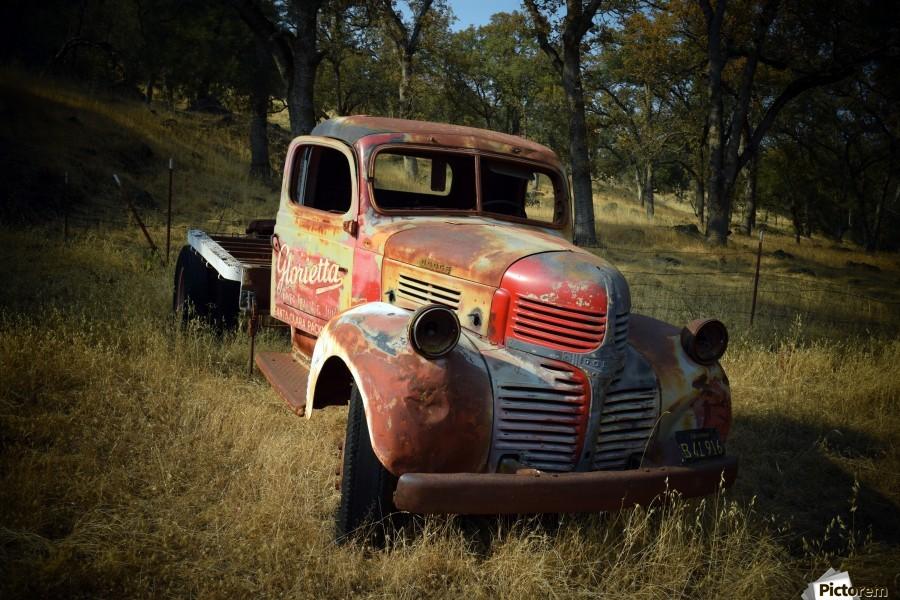 Abandoned Dodge Truck  Print