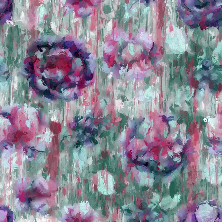 Multicolor Abstract Floral   Print