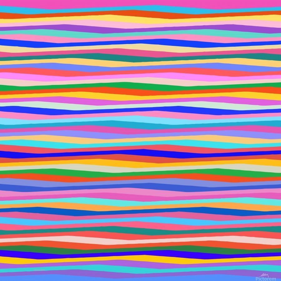 Wavy Stripes Abstract   Print