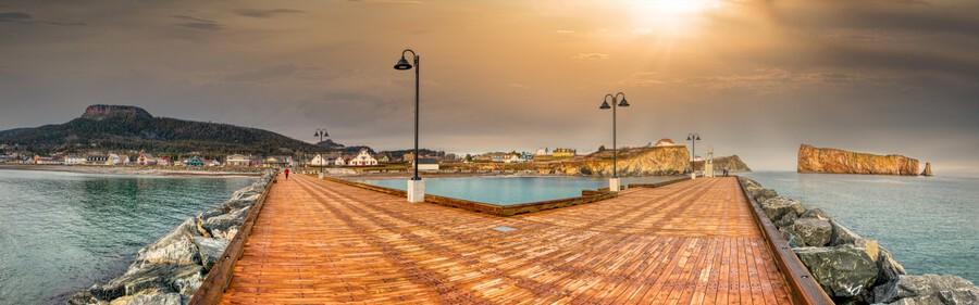 Panorama du quai de Perce  Imprimer
