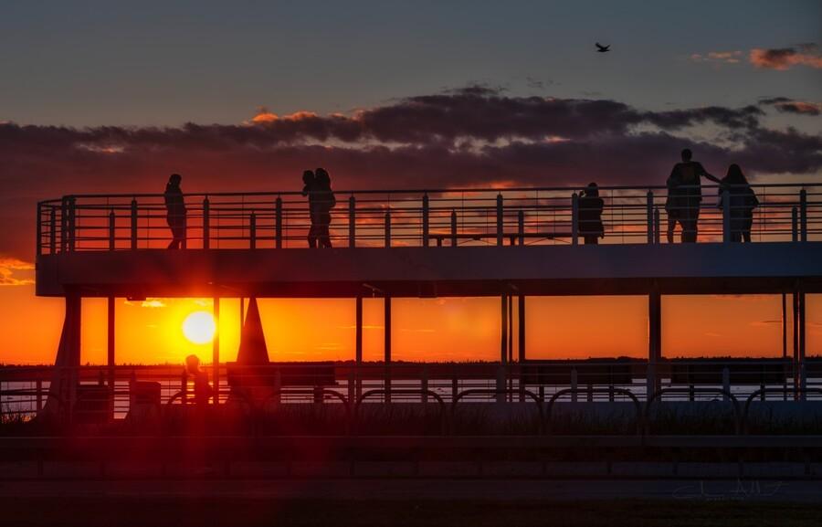 Coucher de  soleil sur Rimouski  Imprimer