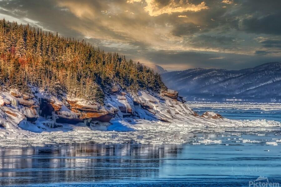 Pointe St-Pierre sous la glace  Imprimer