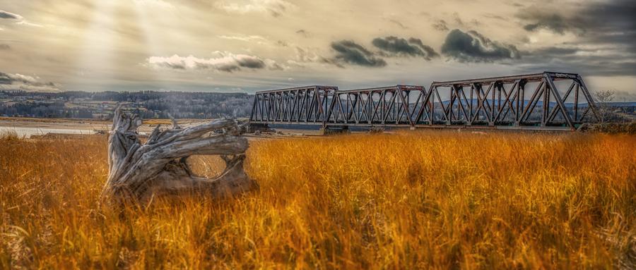 Pont de fer plage Haldimand  Imprimer