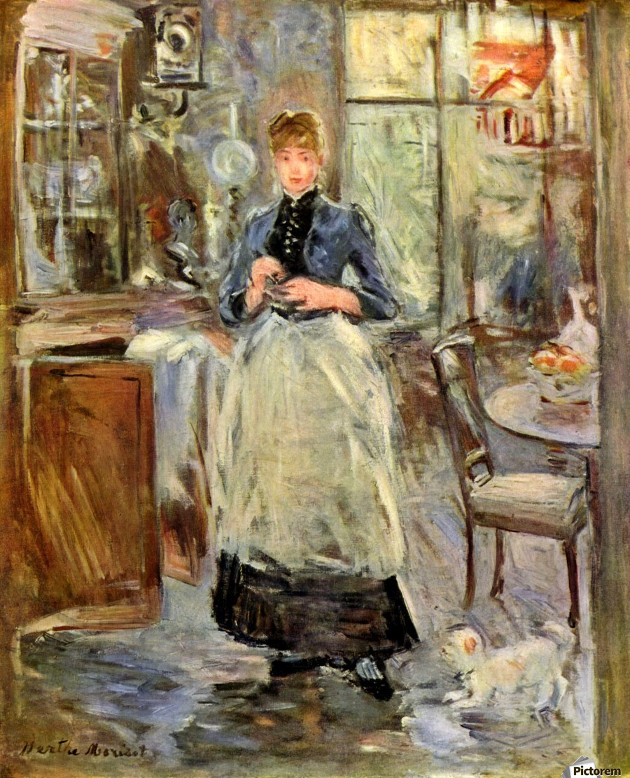 Berthe Morisot In the Dining Room Vintage Print