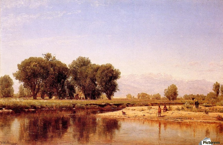 Indian Emcampment on the Platte River  Print