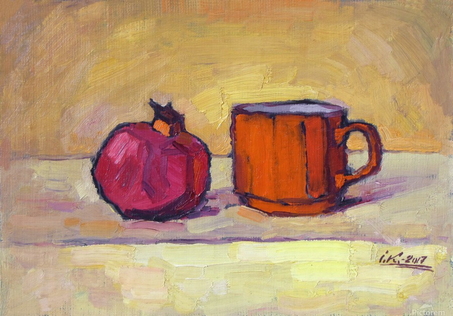 Pomegranate and Red Cup  Print
