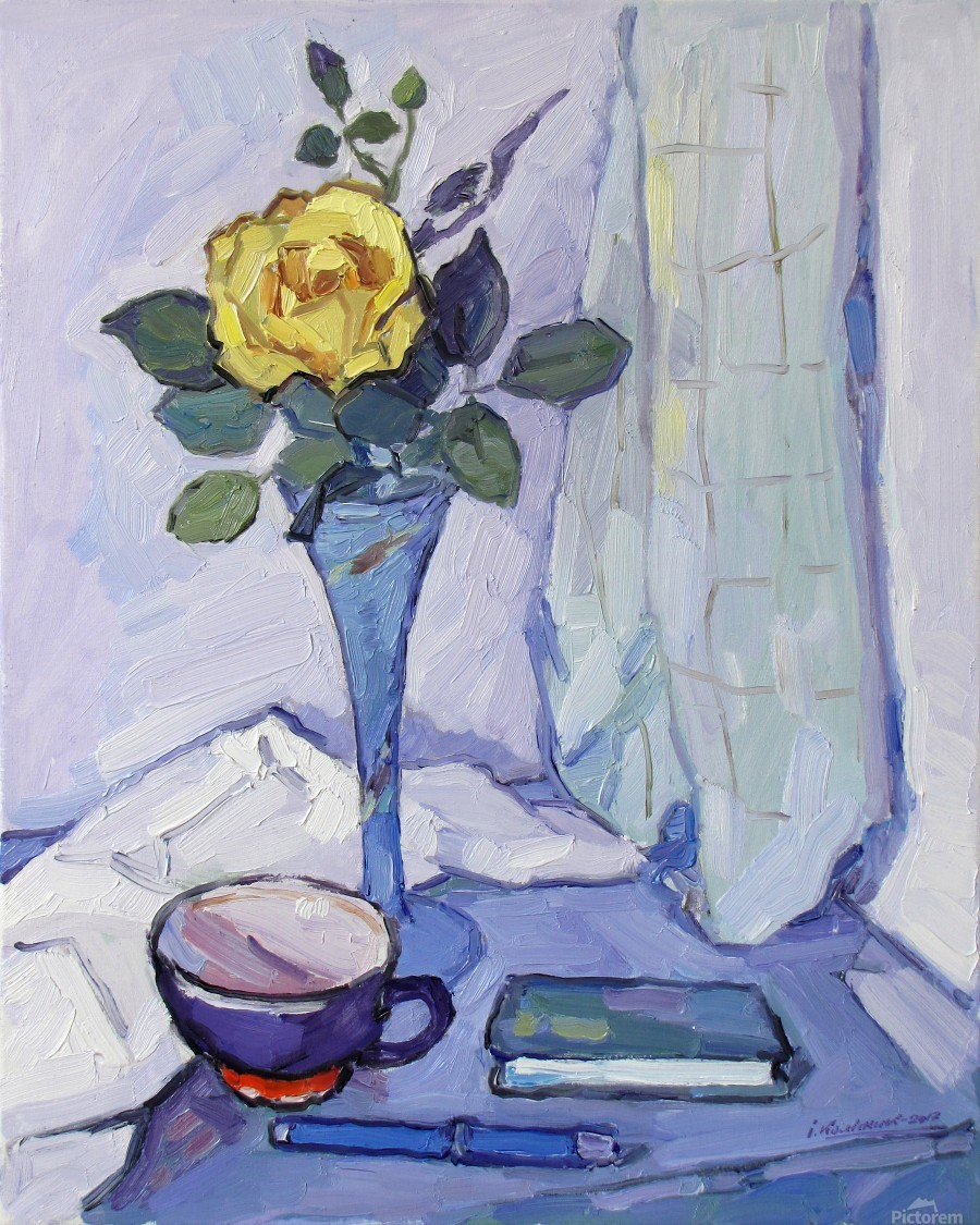 Still Life with Yellow Rose  Print