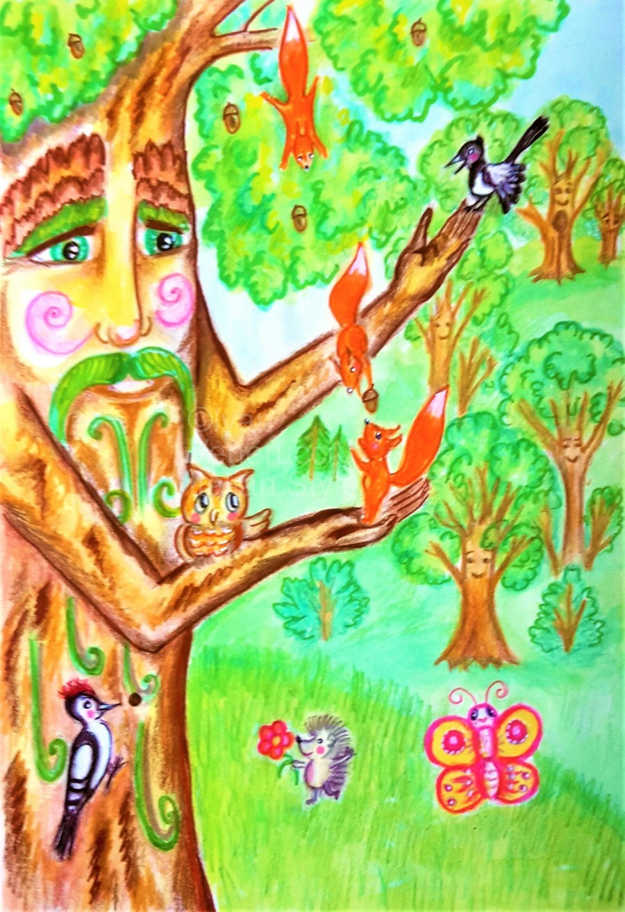 The tree of the prophetic wood and the friends of the wood  Print